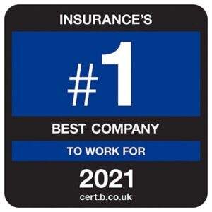 Insurance number 1 best company to work for 2021