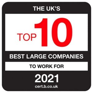 Uk top 10 best large companies to work for 2021